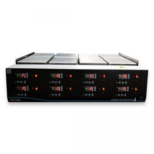 Agitador magnetico con calentamiento de 8 puestos